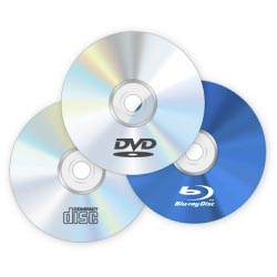 DVD, CD, Blu-ray диски