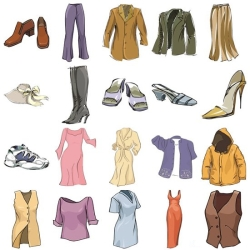 Clothing, working clothes, shoes, accessories